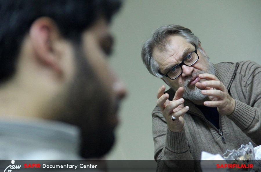 حضور نادر طالب زاده در مرکز مستند سفیر