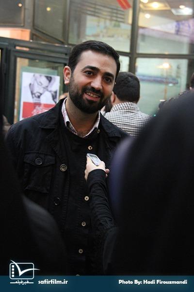 وحید یامین پور در اختتامیه چهارمین جشنواره مردمی فیلم عمار، سینما فلسطین