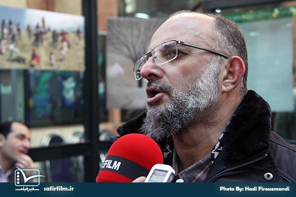 سعید قاسمی در اختتامیه چهارمین جشنواره مردمی فیلم عمار، سینما فلسطین