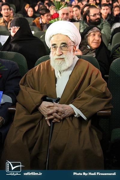 حضور آیت الله جنتی در اختتامیه چهارمین جشنواره مردمی فیلم عمار، سینما فلسطین