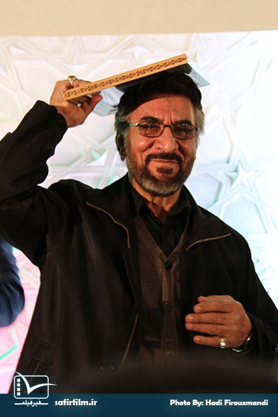 تقدیر از فرج الله سلحشور کارگردان سینما و تلویزیون در اختتامیه چهارمین جشنواره مردمی فیلم عمار، سینما فلسطین