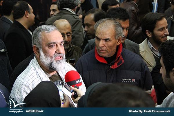 حضور سردار محمدرضا نقدی رئیس سازمان بسیج مستضعفین در اختتامیه چهارمین جشنواره مردمی فیلم عمار، سینما فلسطین