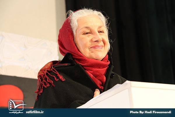 سخنرانی خانم ماریه کومیه مستندساز در اختتامیه چهارمین جشنواره مردمی فیلم عمار، سینما فلسطین