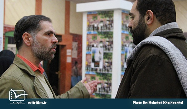 رحیم مخدومی٬ نویسنده و حامد بامروت نژاد٬ دبیر جشنواره چهارم عمار در حاشیه اکران مستند «مصاف ۱»