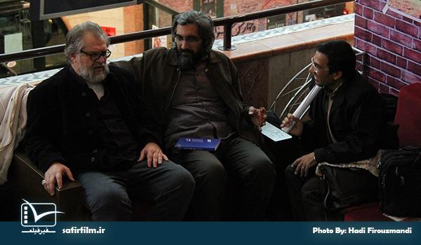 نادر طالب زاده و وحید جلیلی از مسئولین برگزاری جشنواره مردمی فیلم عمار