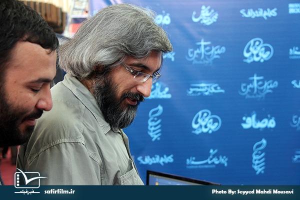 حضور وحید جلیلی- فعال رسانه ای در غرفه سفیرفیلم
